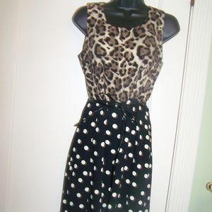 Sandro Ferrone Leopard Print Polka dot Dress